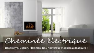 CHEMINEES ELECTRIQUES. Une cheminée électrique, décorative ? Simple à poser, encastrable, murale. Technologie unique. Interrupteur, Thermostat, Télécommande... création de flammes et fumée avec effet 3D, feu réglable en intensité. Plusieurs modèles et couleurs sont disponibles. Garantie 2 ans.